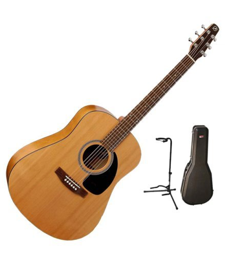 get cheap seagull s6 the original acoustic guitar bundle wgator hardshell case and on stage. Black Bedroom Furniture Sets. Home Design Ideas