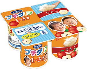 ダノン プチダノン りんご (45g×4) 6パック入 【1?3歳児用 】