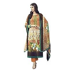 Like a diva JINAAM Multicolor Cotton Party Wear Salwar Kameez / Churidar Dress material