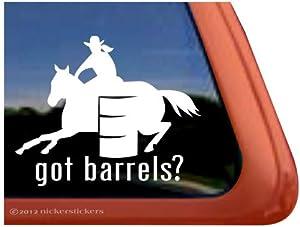 Amazon.com: Got Barrels? ~ Barrel Racing Horse Trailer Vinyl Window
