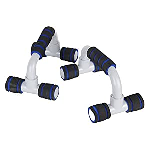 Strauss Moto Push Up Bar, Pair (Black/Blue)