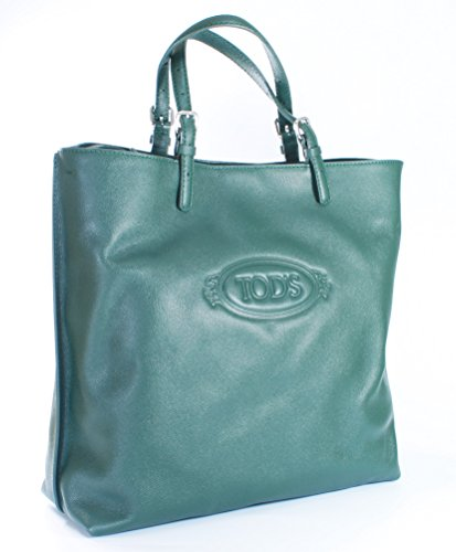 tods-logo-shopping-media-tote-bottle-green-leather-rrp-575