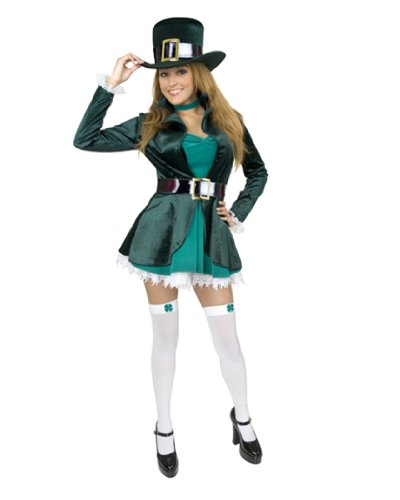 Womens Plus Size Sexy Leprechaun Costume