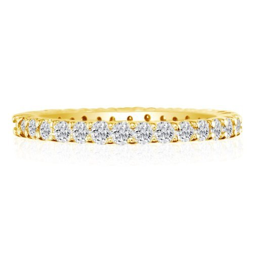 SuperJeweler 5ct Diamond Eternity Anniversary Band Ring, 14K Yellow Gold, GHSI
