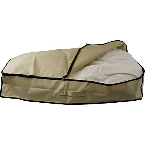 Neusu 80 Litre Heavy Duty Underbed Storage Bag - Large Size (96cm x 48cm x 18cm) 80 Litre Capacity - Strong 600D...