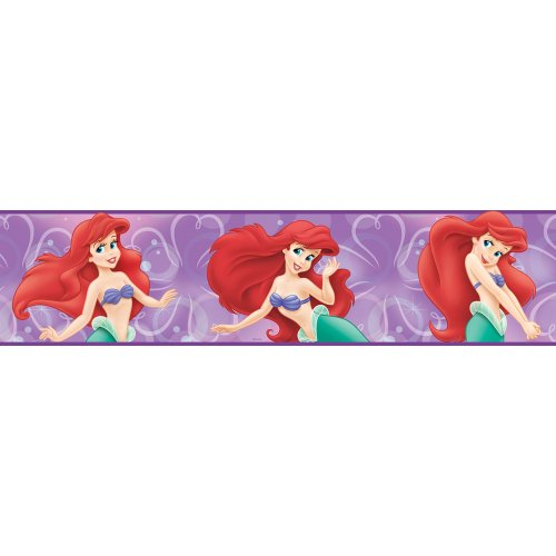 Blue Mountain Wallcoverings DP026429 Little Mermaid Prepasted Wall Border - 1