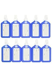 ANBANA @ 10 pcs Blue Plastic Travel Accessories Square-shape Luggage tag / Identifier with Name Card