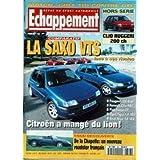 ECHAPPEMENT [No 346] du 15/06/1996 - GOLF TDI CONTRE GTI - CLIO RUGGERI 200 CH - LA SAXO VTS ET SES RIVALES -...