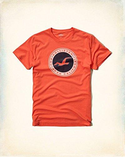 Hollister Co. ホリスター Logo Graphic Tee [COLOR: オレンジ ][SIZE: S ] [並行輸入品]