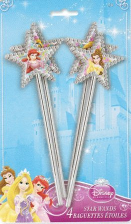 Disney Princess Star Wands / Favors (4ct) - 1