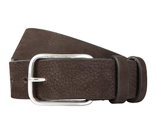 BALDESSARINI cintura di pelle marrone 941, Länge:115 cm;Farbe:braun