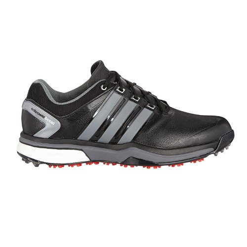 2015 Adidas Adipower Boost Tour Mens Waterproof Golf Shoes - Wide Fitting Core Black/Neo Iron Metallic 11UK
