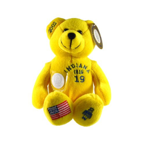 Indiana State Quarter Bear Collectible Stuffed Bear