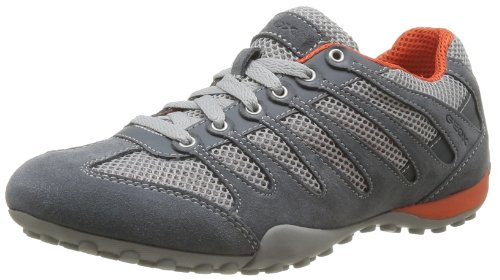 Geox Men's U Snake B Trainers Gray Gris (Dove Grey/Dk Grey) 8 (42 EU)