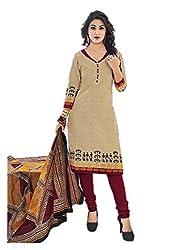 Aarvi Women's Cotton Unstiched Dress Material Multicolor -CV00047