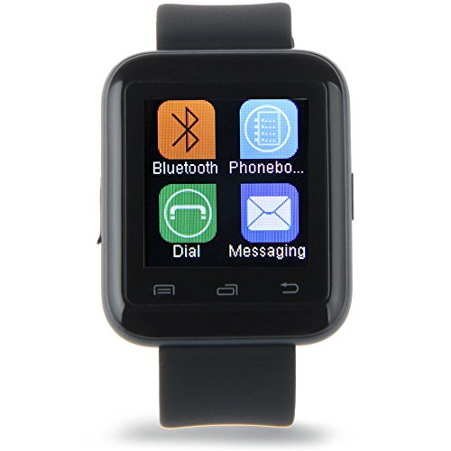 Padgene Bluetooth 3.0 New SmartWatch for Samsung S3 / S4 / S5 / Note 2 / Note 3 / Note 4, HTC one M8 / M9, Nexus 6, Sony and other Android Smartphones, Black