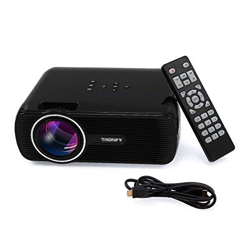 Tronfy Portable Multimédia Projecteur avec cordon HDMI LCD Mini Projecteur LED avec VGA/USB SD/AV de Vidéo Projeteur Home Cinéma Théâtre