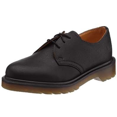Dr Martens 1461 Pw Harvey, Chaussures de ville mixte adulte - Noir (Noir Harvey), 41 EU (7 UK)