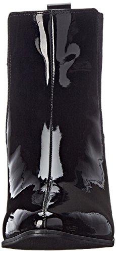 Nine West Women's Travers Synthetic Boot, Black/Black, 12 M US