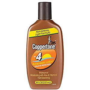Coppertone Sunscreen Lotion, SPF 4 - 8 fl oz