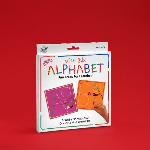 Colorful, Non-Toxic Wax And Yarn Product To Stimulate Imagination And Creativity - Wikki Stix Alphabet Fun Cards for Learning