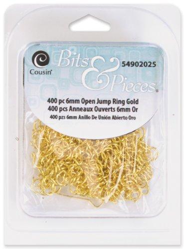 Cousin Bits & Pieces 6mm Open Jump Ring 400/Pkg-Gold