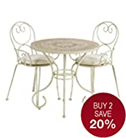 Jasmine Bistro Table & 2 Chairs