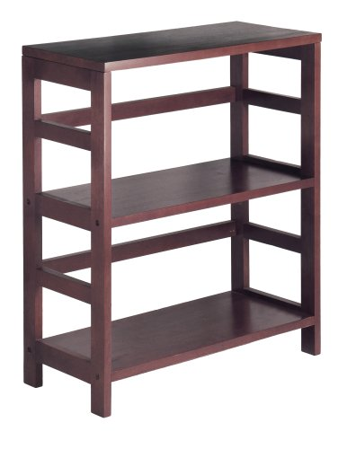Winsome Wood Shelf, Espresso Narrow 3 Shelf Bookcase