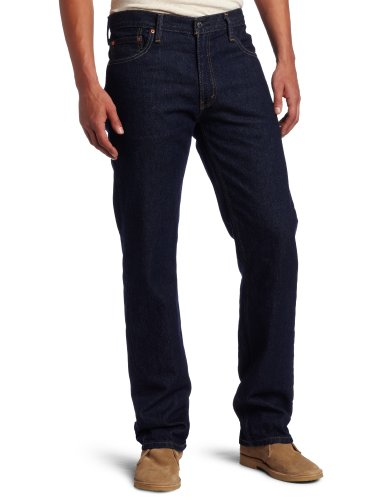 Levi's 505 Regular Fit Jeans in Rinsed, Size: 40W x 30L, Color: Rinsed