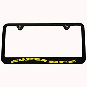 Amazon Com Dodge Charger Super Bee Black License Plate