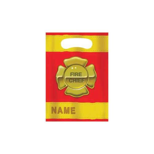 Creative Converting Firefighter 8 Count Party Favor Loot Bags (Fire Birthday Party Supplies compare prices)