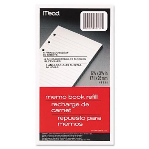 mead-6-3-4-x-3-3-4-ring-memo-book-refill-white-80-sheets