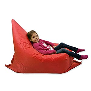 Kids BeanBag Large 6-Way Garden Lounger - GIANT Childrens Bean Bags Outdoor Floor Cushion RED - 100% Water Resistant by Home And Garden