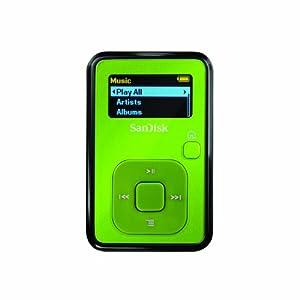 SanDisk Sansa Clip 4 GB MP3 Player (Lime)