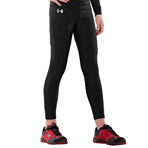 Under Armour Boys' ColdGear® Compression Legging Youth Large Black