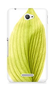 Amez designer printed 3d premium high quality back case cover for Sony Xperia E4 (green leaf)