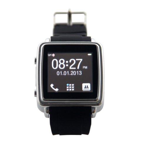 E-THINKER Pantalla t�ctil Smartwatch inteligente Reloj Bluetooth con SMS Sync, Agenda Sync altavoz, vibraci�n, Alerta de llamada entrante, Display digital de tiempo y alarma anti-perdida para el tel�fono m�vil de Bluetooth tales como Iphone, Samsung S3 I9300, Galaxy S4 y Andorid (negro)