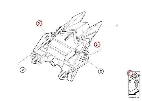 4 X BMW Genuine Motorcycle Self-Locking Plug Nut M5 R nine T S1000R R1200GS R1200GS Adventure R1200RT F800GS