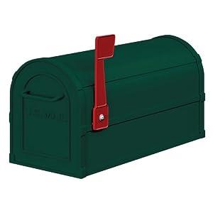 Salsbury Industries 4850GRN Heavy Duty Rural Mailbox, Green