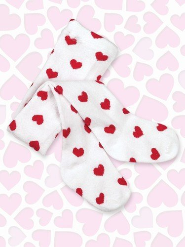 Baby Lil Love Red Heart Tights - 2T to 3T - Bearington Baby