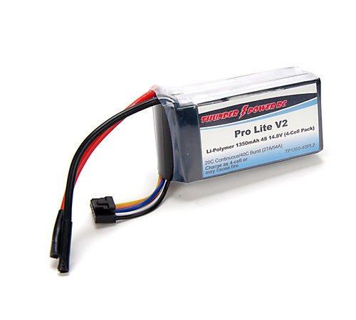 1350mAh 4-Cell/4S 14.8V 20C Pro Lite V2 LiPo