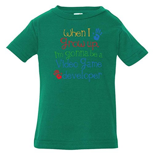 Inktastic Baby Boys' Video Game Developer Future Baby T-Shirt 18 Months Kelly Green