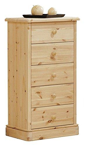 Cajonera de madera de pino - bruto