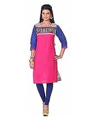 Namah Women's Cotton Regular Fit Kurti (D62-XL , Multi-Colour, XL)