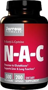 Jarrow Formulas N-A-C (N-Acetyl-L-Cysteine), 500mg, 200 Capsules