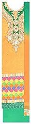 Radha Rani Women's Chanderi Unstitched Dress Material (Yellow)