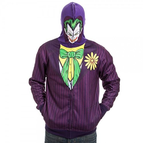 Brand New & Licensed Batman Harley Quinn The Joker Full Zip Mask Hoodie