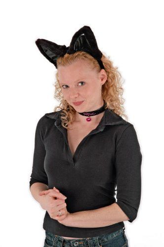 Elope Lg Cat Ears/Collar/Tail Set BL
