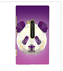 3D Vector Panda Cute Fashion 3D Hard Polycarbonate Designer Back Case Cover for Nokia Lumia 920