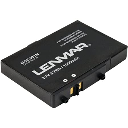 Lenmar GSZ301N Nintendo DS Lite Battery Replaces Nintendo USG-003